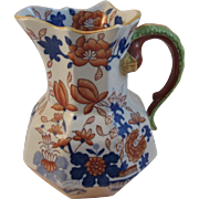 Early Mason's Decorated Ironstone Pitcher