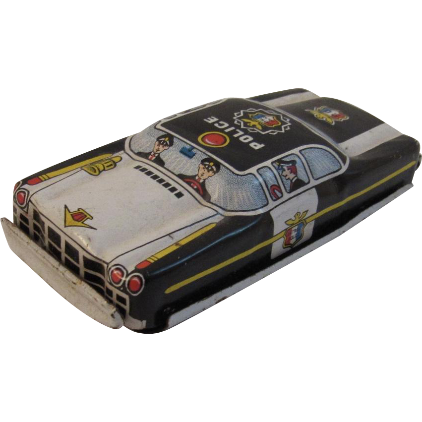 Nomura Tin Friction Police Car