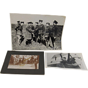 Three Military Original Photographs.
