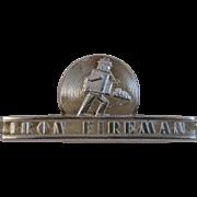 Iron Fireman Name Plate
