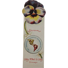 1901 Pan American Exposition Advertising Bookmark for Libby McNeill and Libby - Red Tag Sale Item