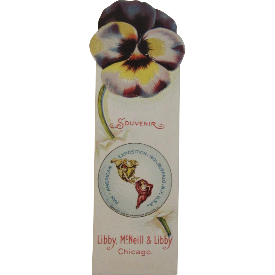 1901 Pan American Exposition Advertising Bookmark for Libby McNeill and Libby