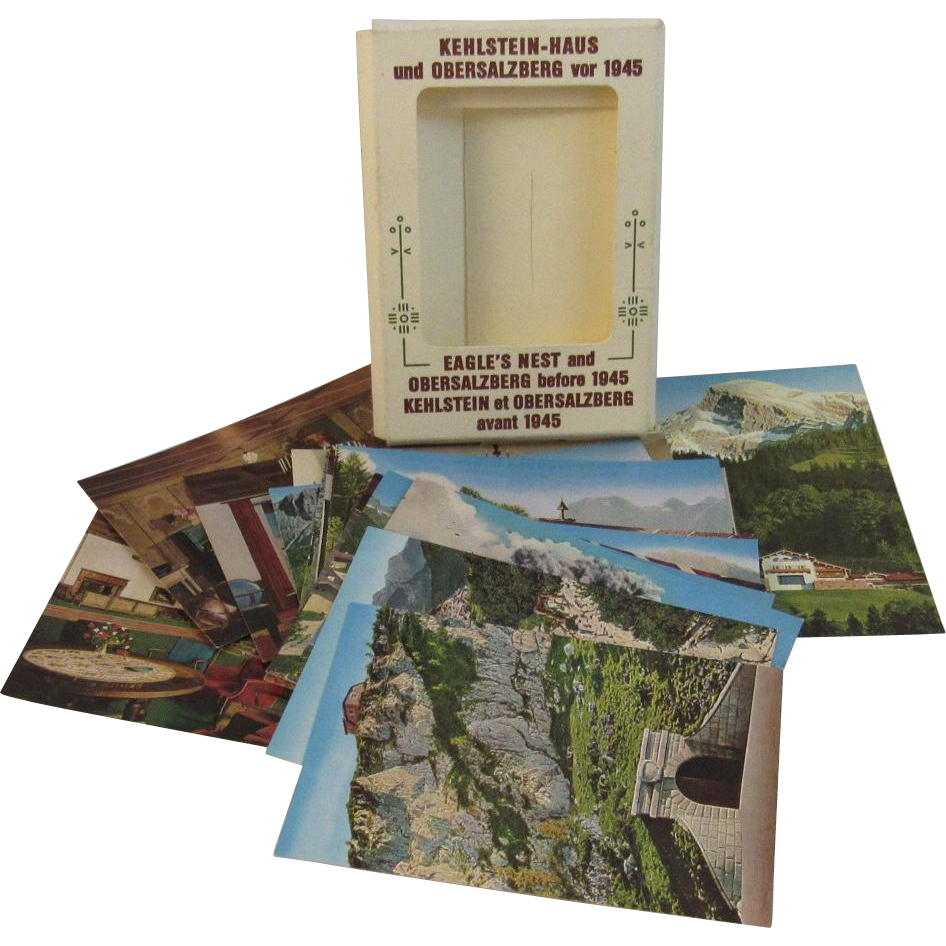Set of 20 Eagle's Nest and Obersalzberg Before 1945 Photo Cards in Folder