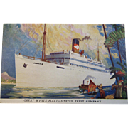 Great White Fleet - United Fruit Company Postcard