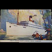 Great White Fleet - United Fruit Company Postcard