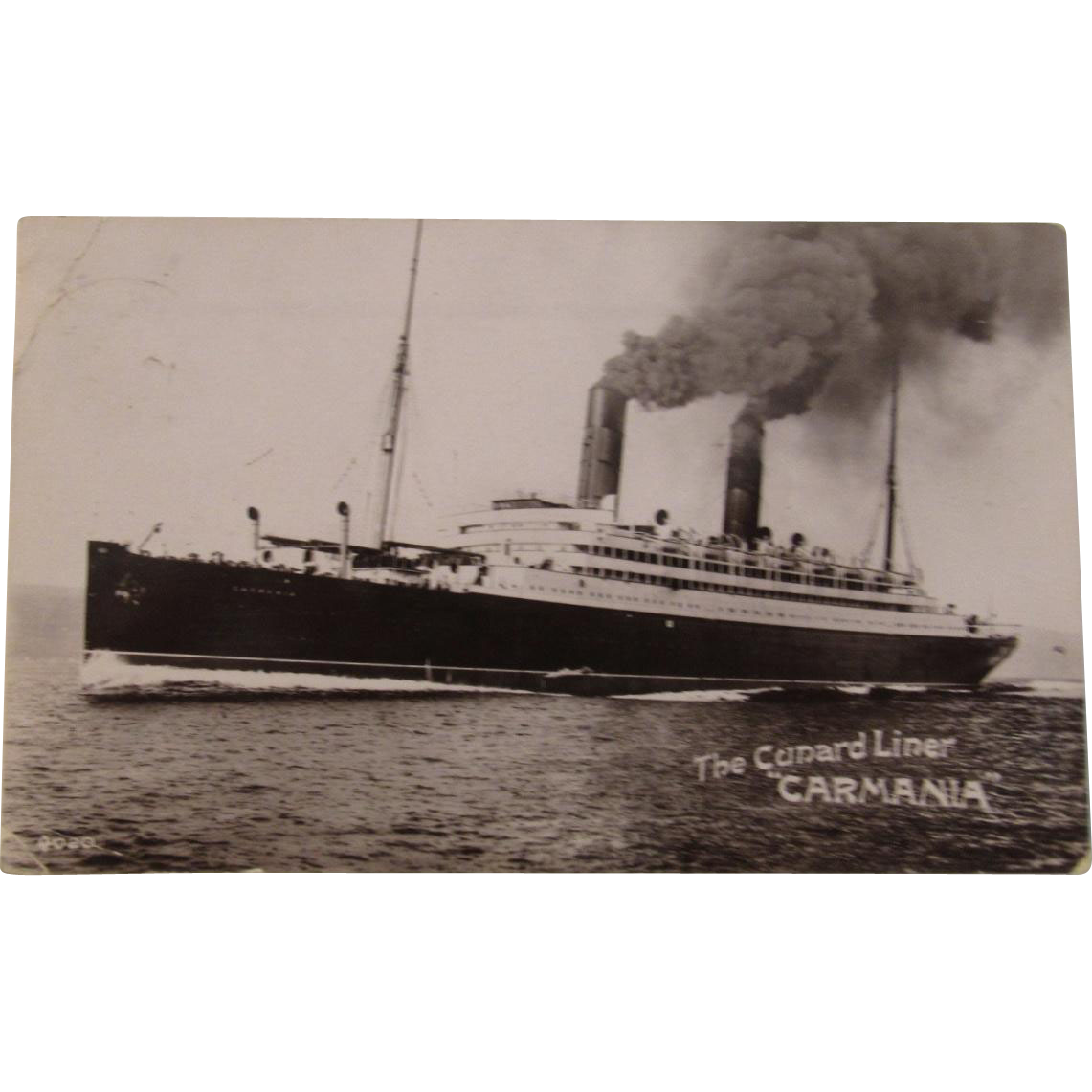 "The Cunard Liner ""Carmania"" Photo Postcard"