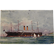 White Star Line RMS Celtic on Phaleron Bay Postcard