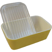 Pyrex Yellow Daisy 1 & 1/2 Pint Refrigerator Dish Citrus Yellow