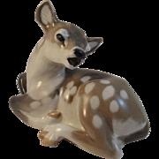 Royal Copenhagen Tan White Deer Fawn Figurine # 2609