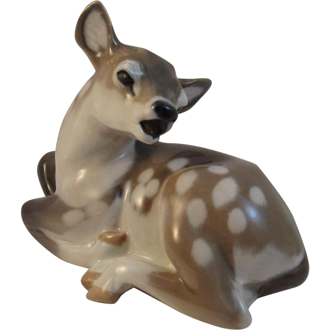 Royal Copenhagen Tan White Deer Fawn Figurine # 2609