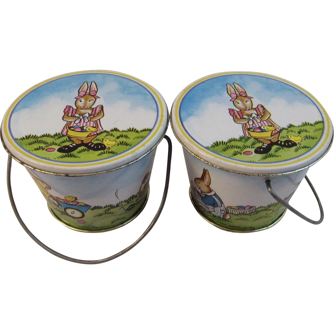 Lynn Gates Midwest Easter Bunny Tin Pails