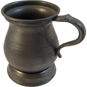 Early Pewter Half Pint Measure