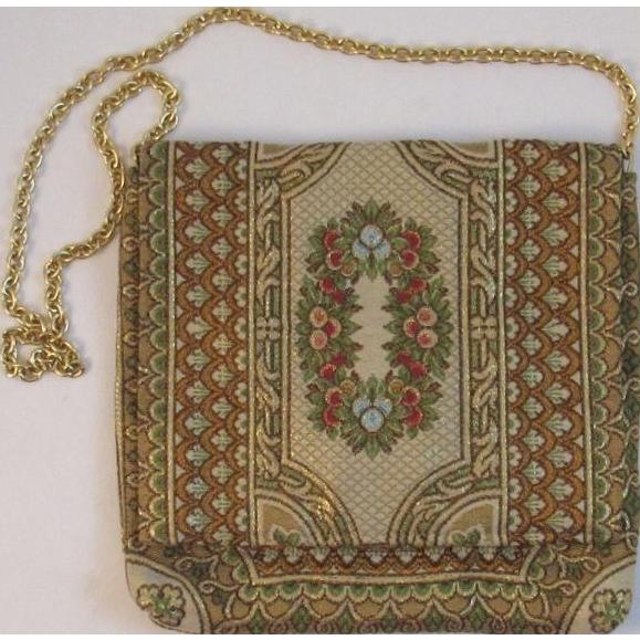 Vintage Adoria Italian Tapestry Purse