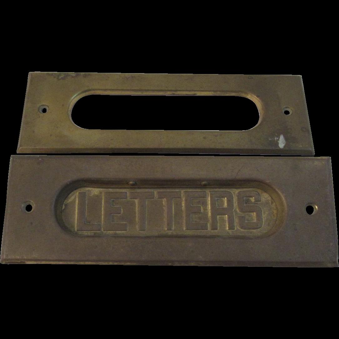 Vintage Brass Letters Mail Slot