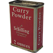 A Schilling & Company Curry Powder Red Litho Spice Tin