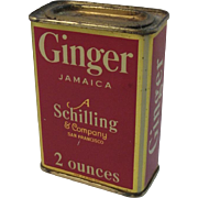 A Schilling & Company Ginger Jamaica Red Litho Spice Tin