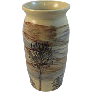 Sevierville Tree Art Pottery Vase Nice Autumn Colors