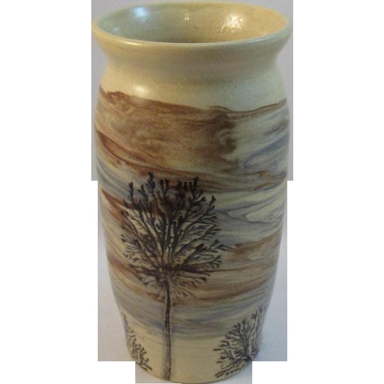 Sevierville Tree Art Pottery Vase