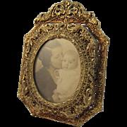 Ornate Cast Gold Metal Frame - Red Tag Sale Item