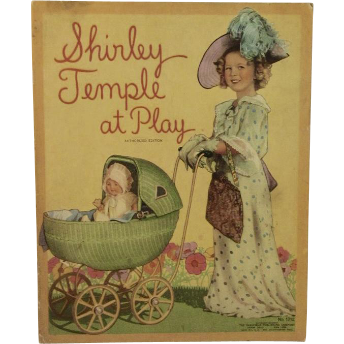 1935 Shirley Temple at Play Authorized Edition Saalfield Publishing Children's Book