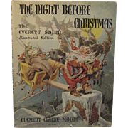1942 The Night Before Christmas Book Illustrated by Everett Shinn Lithograph Children's Book
