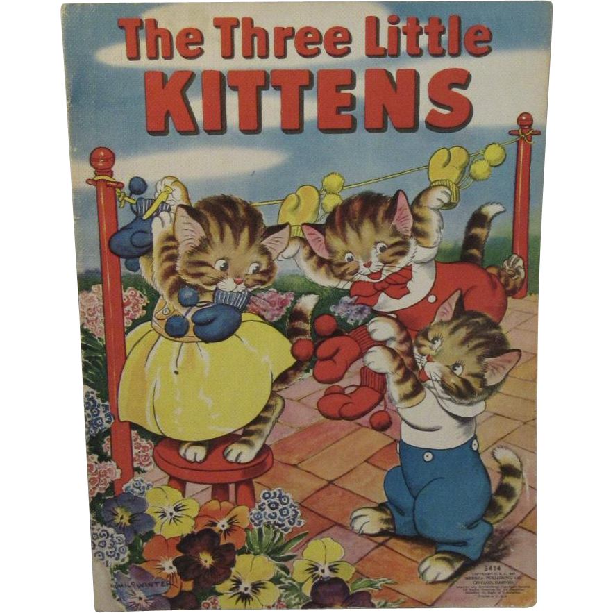 1938 The Three Little Kittens Illustrated by Milo Winter No 3414