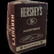 Hershey's Chocolate Candy 5 Cent Assortment Store Display Box