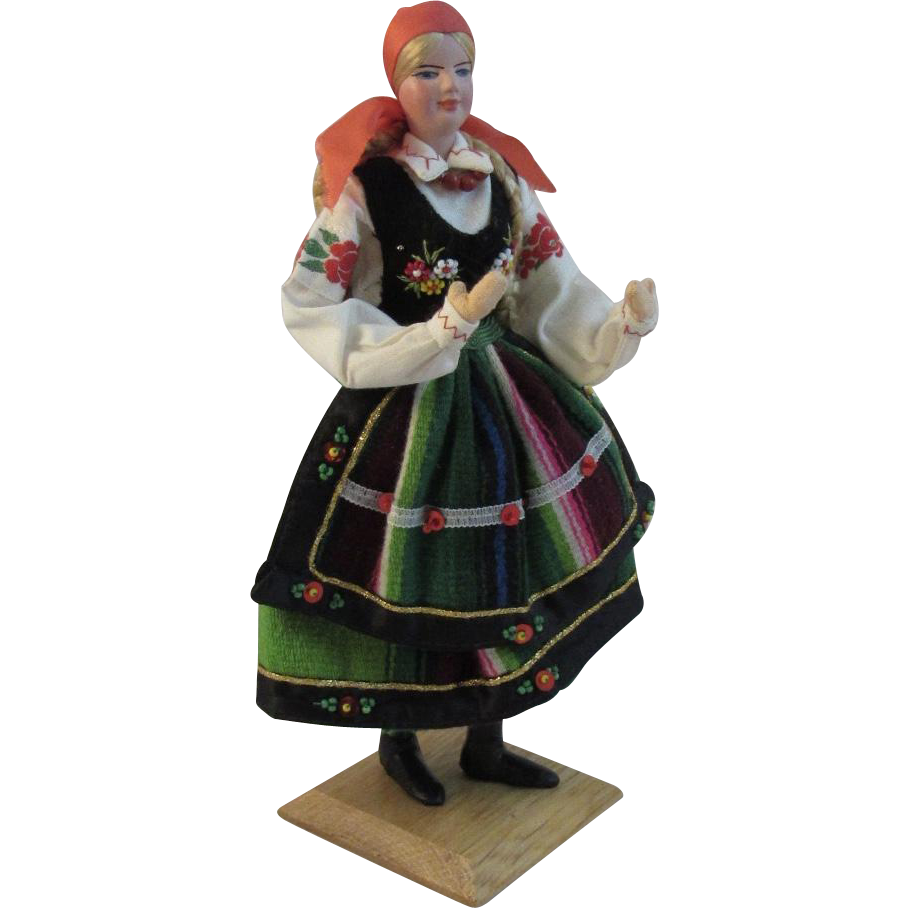 Vintage Polish Ethnic Doll by Jadwiga Kaliszewska