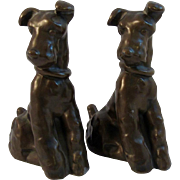 Cast Metal Airedale Dog Book Ends