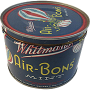 1950 Whitman's Air-Bons Mint Tin with Hot Air Balloons