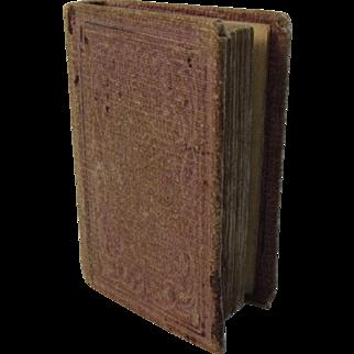 19th C Miniature Religious Book Dew Drops