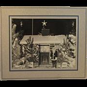 Vintage Santa Claus Photograph Large Size