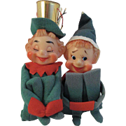 2 Green Knee Hugger Christmas Elves Elf
