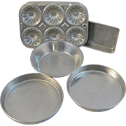 Toy Kitchenware Muffin Baking Pan Set Vintage Child Size