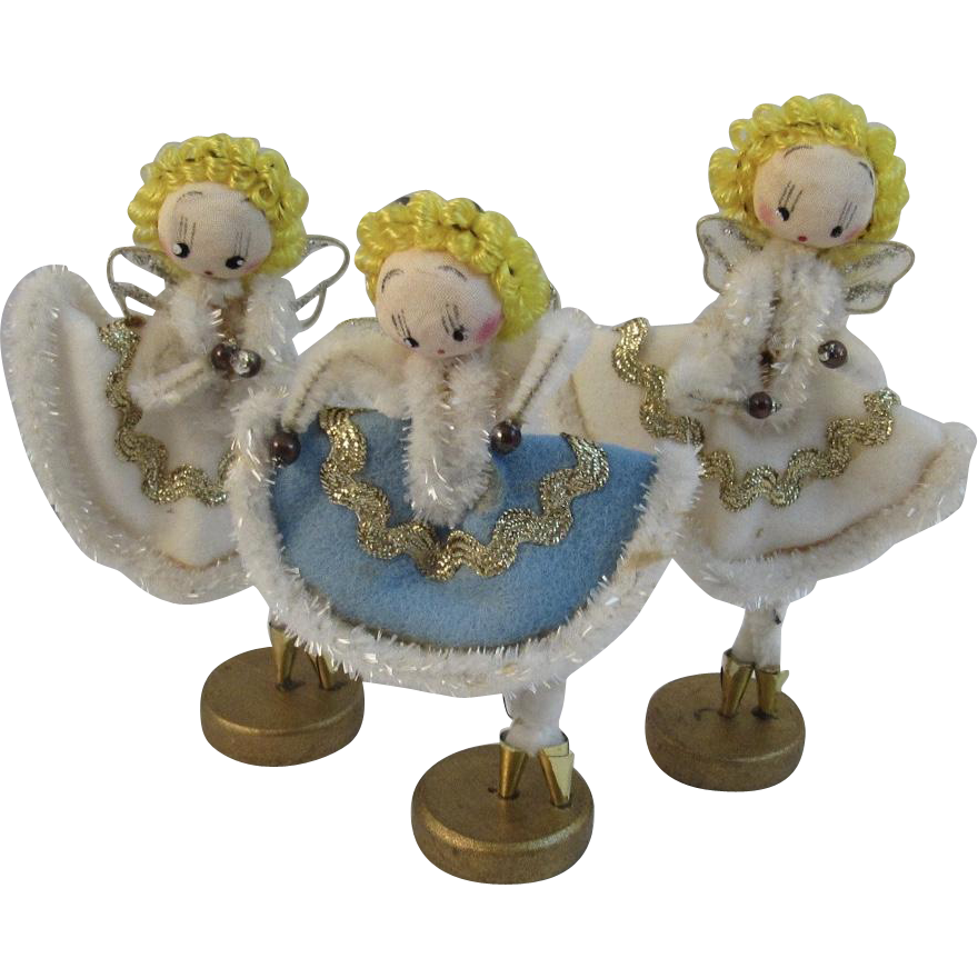 Chenille Angel Ballerinas Christmas