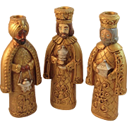 Large 3 Wise Men Kings Candle Holders Dickson Japan