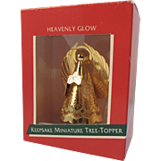 Hallmark Miniature Tree Topper Heavenly Glow Brass Angel