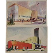Two Official Century of Progress Postcards