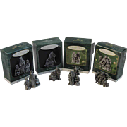 Hallmark Miniature Pewter Nativity Series of Keepsake Ornaments