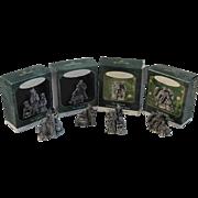 Hallmark Miniature Pewter Nativity Series of Keepsake Ornaments