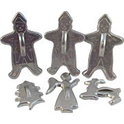 Vintage Christmas Cookie Cutters Gingerbread Men