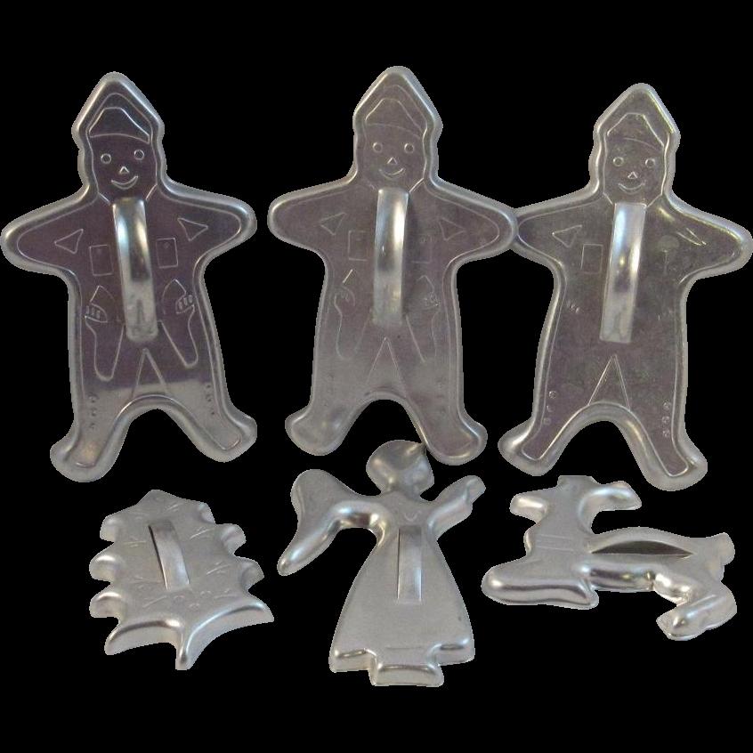 Vintage Christmas Cookie Cutters Gingerbread Men