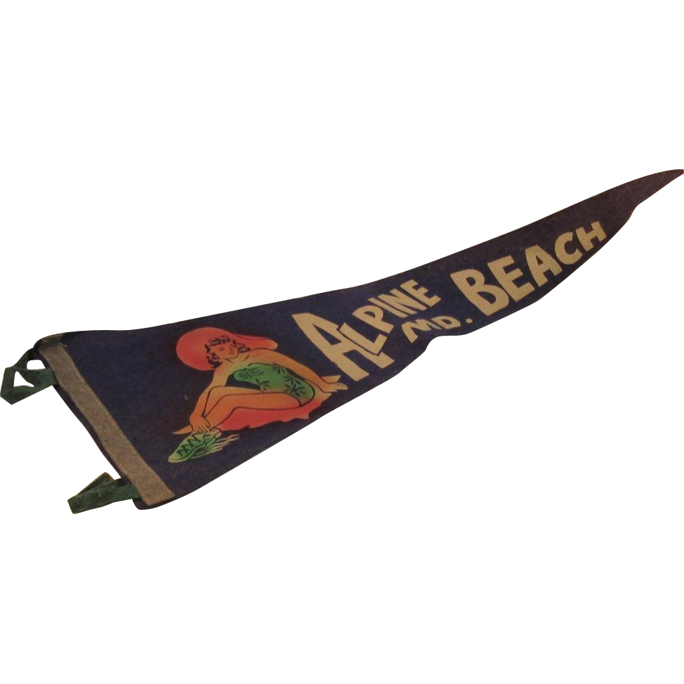 Vintage Pennant Alpine Beach Maryland