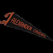 c1920s Alexander Caverns Pennant