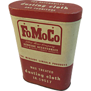 FoMoCo Ford Motor Company Dusting Cloth Tin