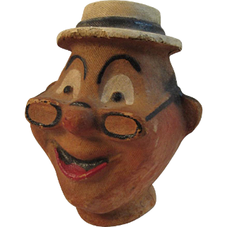 Papier Mache Pulp Character Doll or Puppet Head