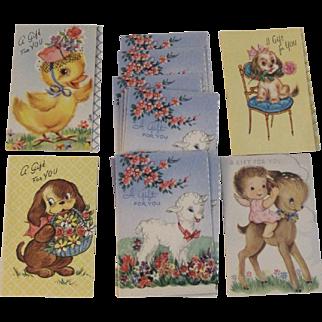 Vintage Miniature Gift Cards