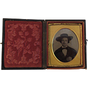 Man in Cowboy Hat Daguerreotype - Red Tag Sale Item