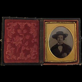 Man in Cowboy Hat Daguerreotype