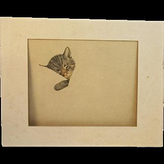 Gruenwald Chessie The Cat Print C&O Railroad